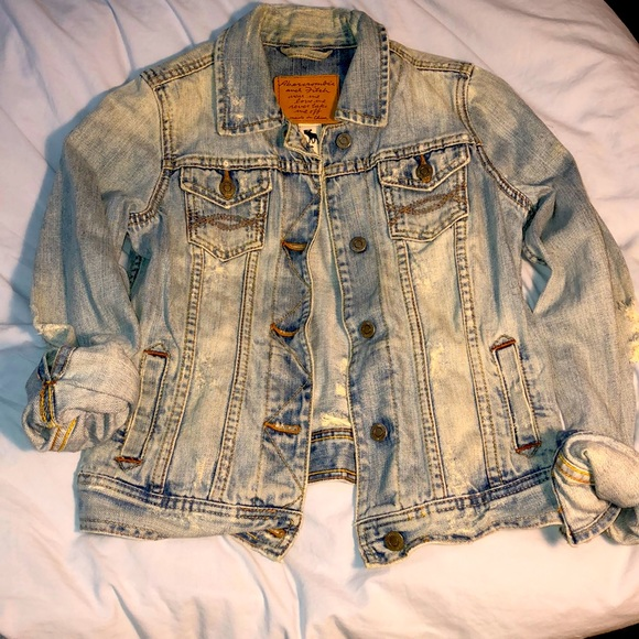 A&F Distressed Denim Jacket